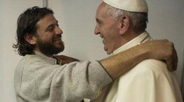 El dirigente social Juan Grabois y el Papa Francisco.