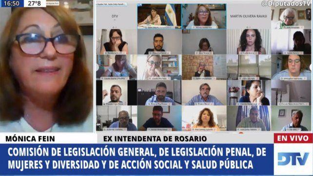 La exintendenta de Rosario expuso a través de video conferencia.
