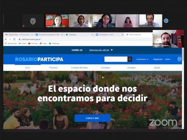 Rosario sumó una nueva versión del portal digital de participación ciudadana