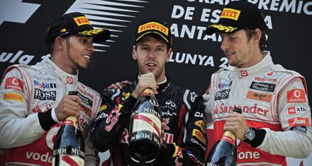 Tras dura lucha con Hamilton, el alemán Vettel ganó el GP de España de Fórmula Uno