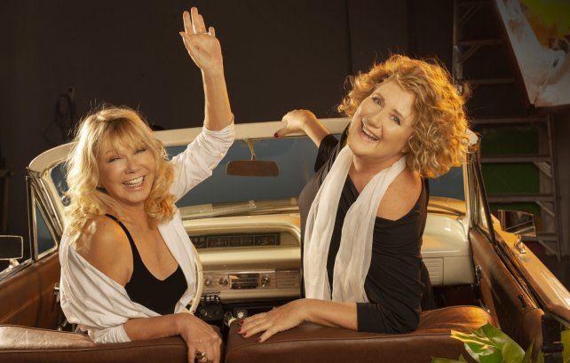Distanciadas pero unidas. Soledad Silveyra y Verónica Llinás encarnan a dos hermanas en la obra teatral.