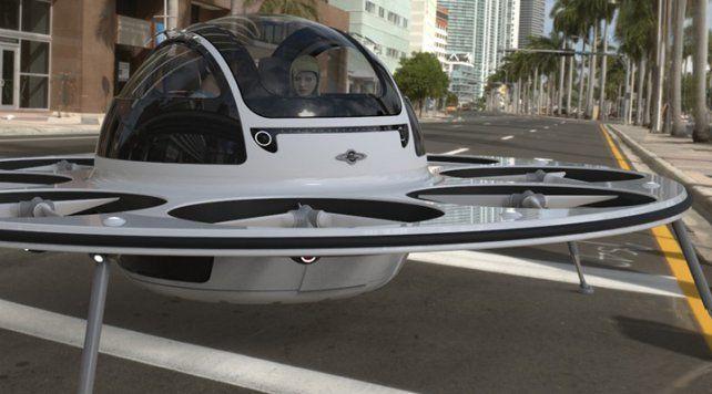 Un dron con forma de OVNI fue creado para trasladarse por la ciudad