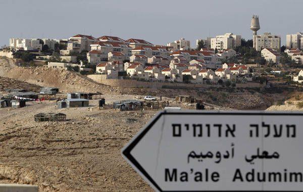 La colonia israelí de Maale Adumin en las afueras de Jerusalén. Israel reaccionó al reconocimiento de Palestina por la ONU con una autorización para construir 3.000 nuevas viviendas en Jerusalén.