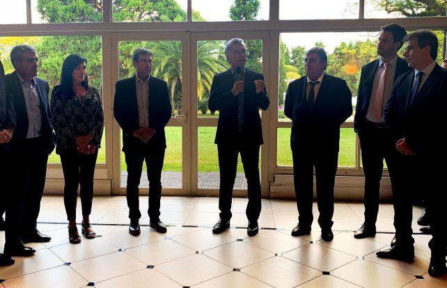 Macri se reunió con legisladores.