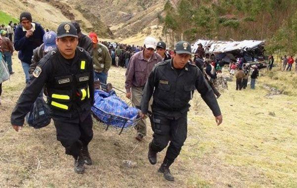 Socorro. En 2012 fallecieron 4.050 personas en accidentes en Perú.