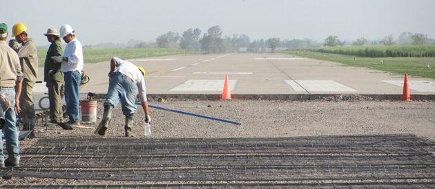 Recientemente la pista del aeropuerto fue remodelada.
