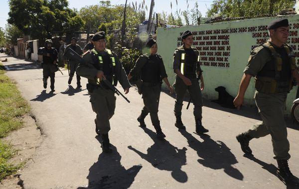 Personal de Gendarmería Nacional realizó el operativo en la zona sur.