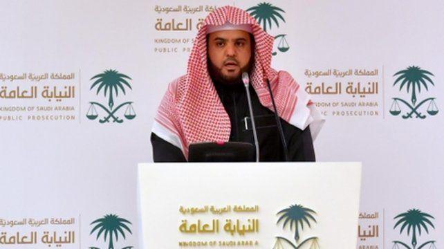 ¿justicia? El vocero judicial saudita anuncia en Ryad las sentencias y las exoneraciones en el caso.