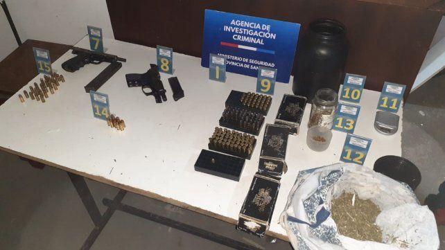 Material secuestrado por la Agencia de Investigación Criminal.