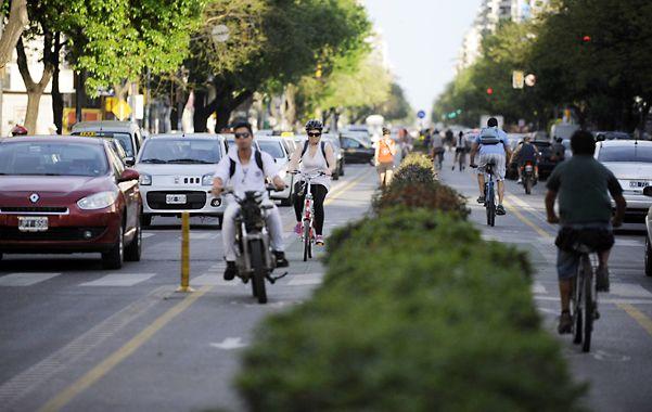 Pellegrini. Una de las principales avenidas de la ciudad está al tope de las arterias con más choques en cadena.