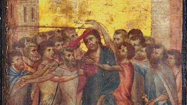 Cristo burlado. El cuadro pintado en 1280 en una madera de álamo.