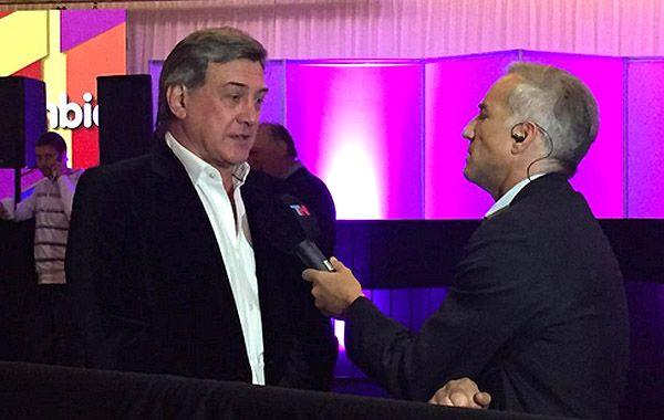 Jorge Boasso dijo que se necesita de todos para reconstruir esta provincia. (Foto Twitter)