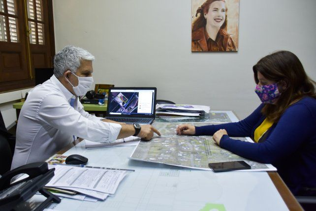 El intendente Jorge Berti acordó realizar el plan integral.