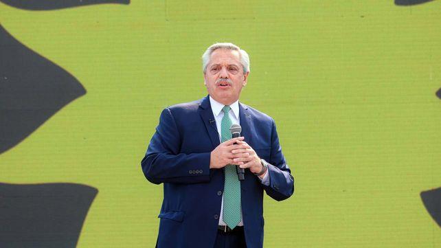 El presidente Alberto Fernández destacó los logros de su gestión en un acto en Tecnópolis.