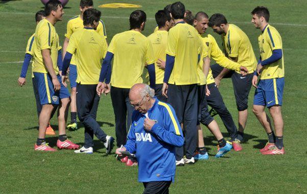 Siete jugadores de Boca se entrenaron ayer de manera diferenciada.