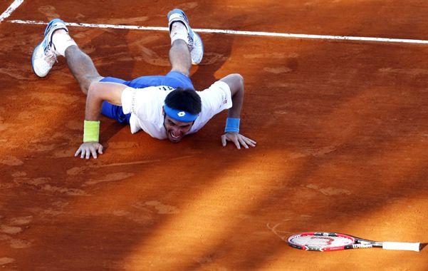 En marzo. Mayer protagonizó un partido histórico ante el brasileño Sousa.