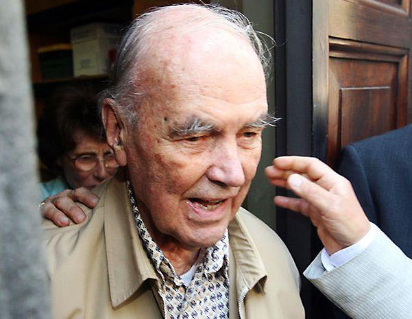 Temible. Erich Priebke fue apresado en Bariloche. Murió en 2013 en Roma.