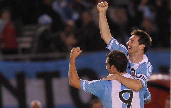 Messi y el Pipita Higuaín
