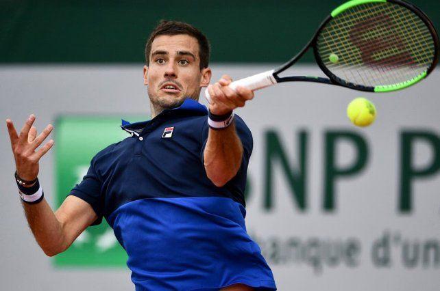 Tenis: eliminaron a Pella en Francia