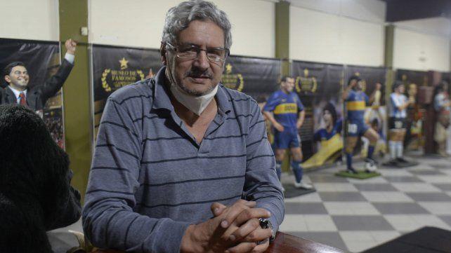 El presidente del club, Carlos Gutierre, autor del proyecto cultural.