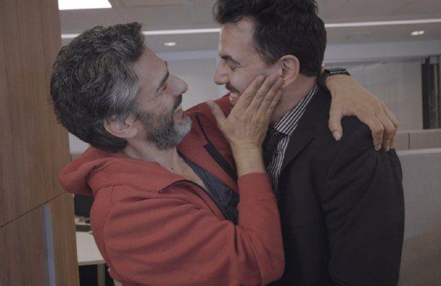 Garabal y Leonardo Sbaraglia en uno de los nuevos capítulos de Famoso.