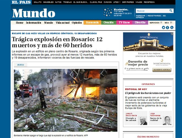 Los diarios del mundo reflejaron en sus portadas la explosión en Rosario