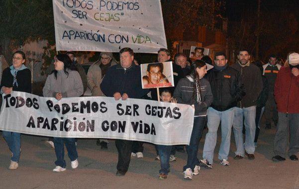 Una de las marchas de silencio organizada por la hija argentina del empresario