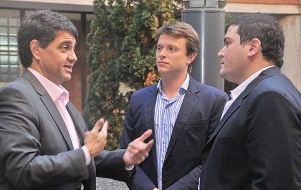 De visita en Rosario. Jorge Macri
