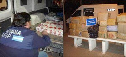 Secuestran mercadería y droga por 88 millones de pesos en operativos de la Afip
