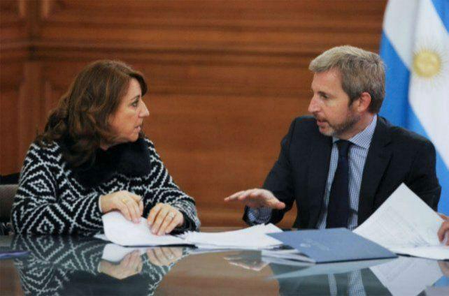 La intendenta Fein se reúne con el ministro Frigerio para solicitarle financiamiento.
