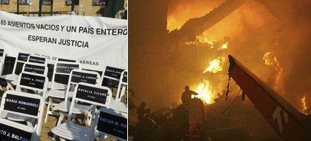 Comienza el juicio por el incendio del avión de Lapa