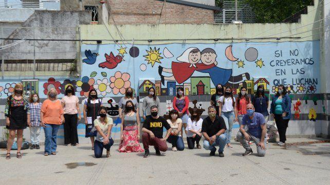La comunidad educativa de la escuela del barrio Remedios de Escalada