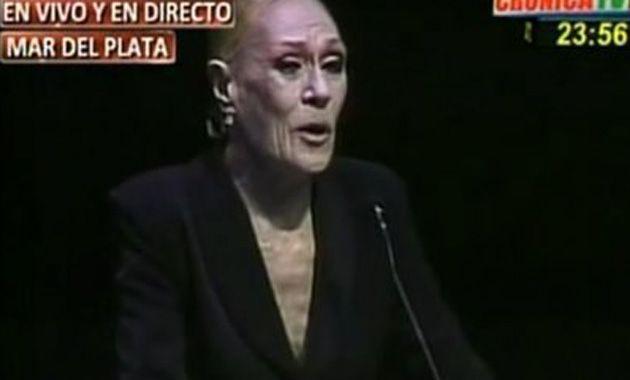 Norma Pons recibió el Estrella de Mar de Oro por su brillante actuación en La casa de Bernarda Alba.