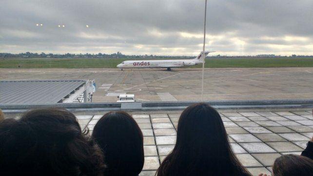 Los alumnos partieron en un vuelo chárter.
