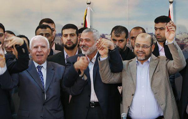 Unidad. Las cúpulas de Al Fatah y Hamas planean un gobierno conjunto.