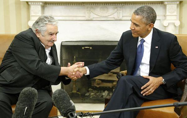 De visita. Mujica