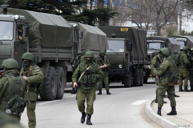 Tropas rusas desplegadas en Crimea