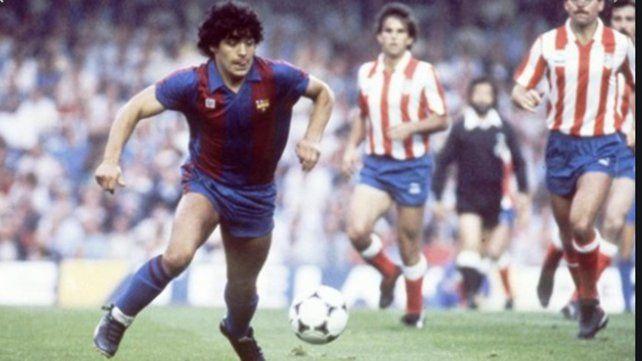 Diego Maradona en la etapa del Barcelona, donde jugó entre 1982 y 1986.