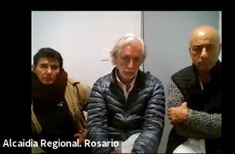 El médico Mariano Arriaga durante la audiencia virtual en la que terminó imputado y luego quedó libre.