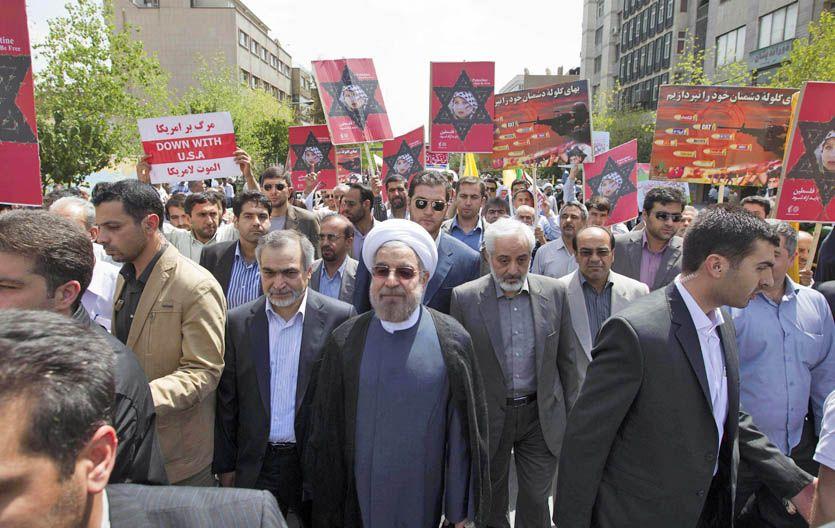 Manifestación. Ruhani (centro