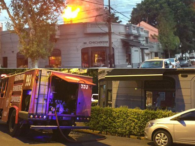 Las llamas fueron extinguidas por empleados y luego por los Bomberos Zapadores. Foto: Twitter.