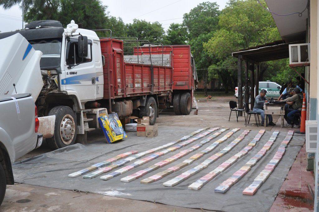 La droga era llevada en un camión interceptado en Chaco.