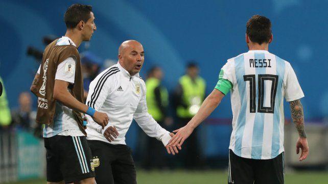 El DT y el 10. Sampaoli y Messi parecieron no congeniar durante la disputa del Mundial.