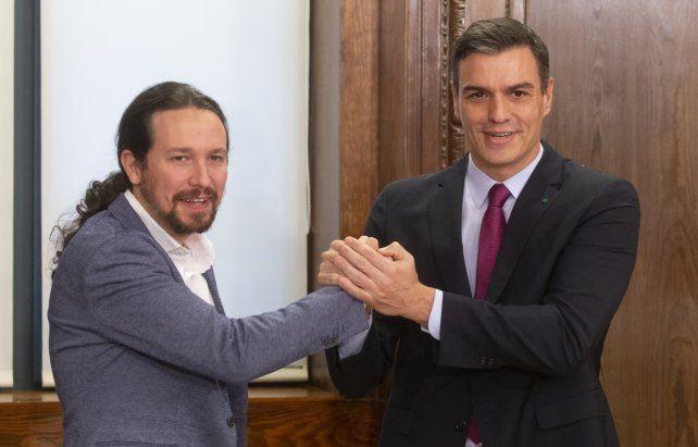 Aliados. Pedro Sánchez y Pablo Iglesias el pasado diciembre