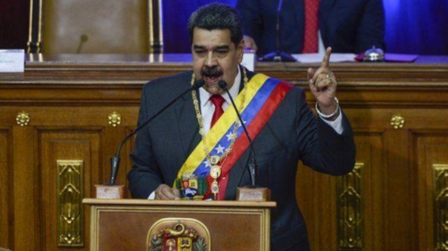 categórico. El presidente venezolano al brindar ayer su discurso en la Asamblea Nacional Constituyente.
