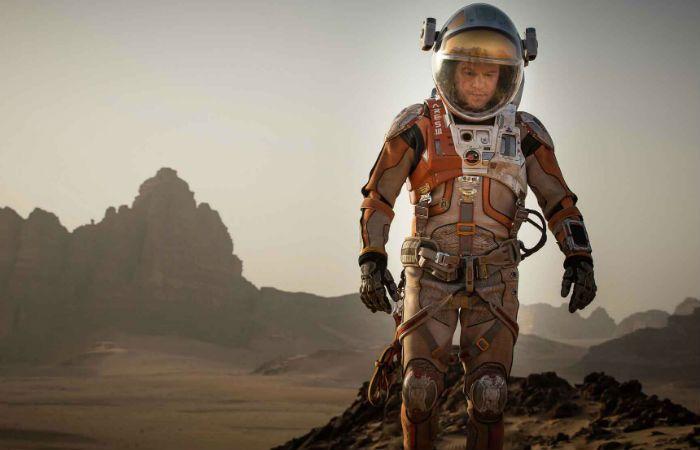 Misión rescate. Matt Damon es un astronauta abandonado en el planeta rojo