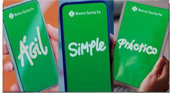Banco de Santa Fe: Agil, simple y práctico