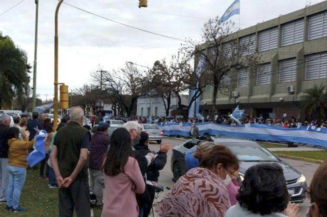 La movilización en Avellaneda impidió la llegada de los interventores.