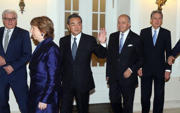 Los ministros de Exteriores de las potencias occidentales