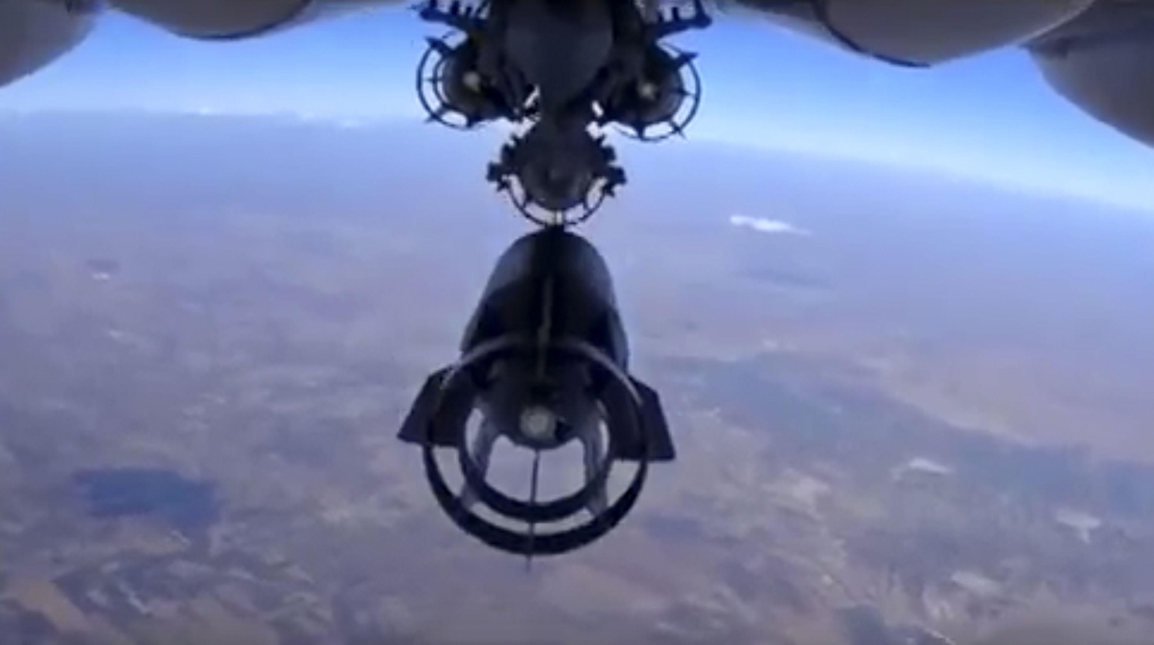 Ofensiva. Imagen de un bombardeo sobre Siria